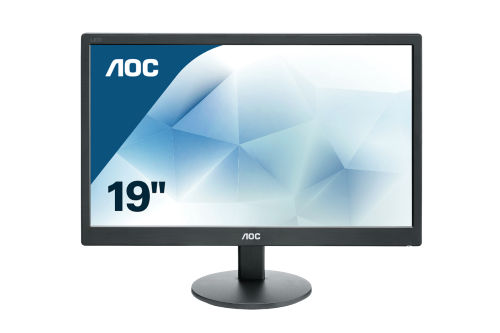 "19"" class slim LED Monitor with extra narrow bezel, 18.5"" viewable image and 16:9 aspect ratio. 20M:1 Contrast Ratio, VGA input and VESA 100mm Mount."